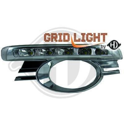 Griglia completa di luci diurne mercedes c-class w204