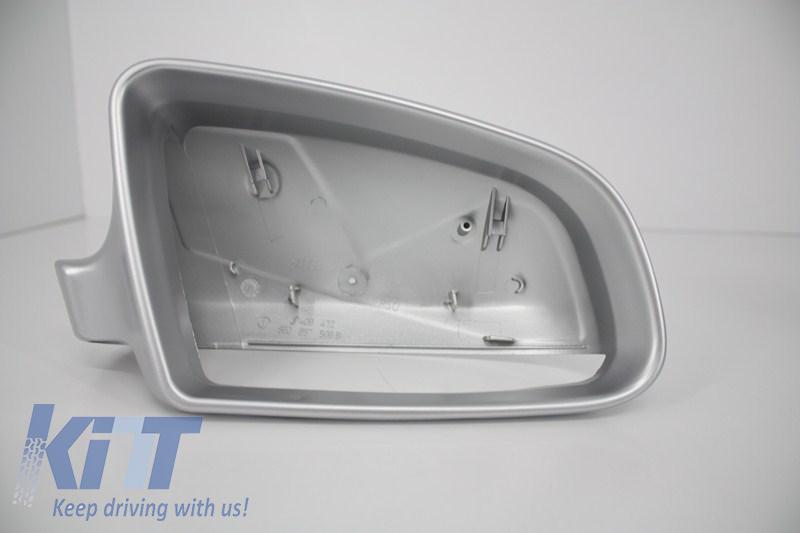 Calotte specchio Audi S3 A3 8P S4 A4 B6 B7  S6 A6 4F Aluminiu opaca