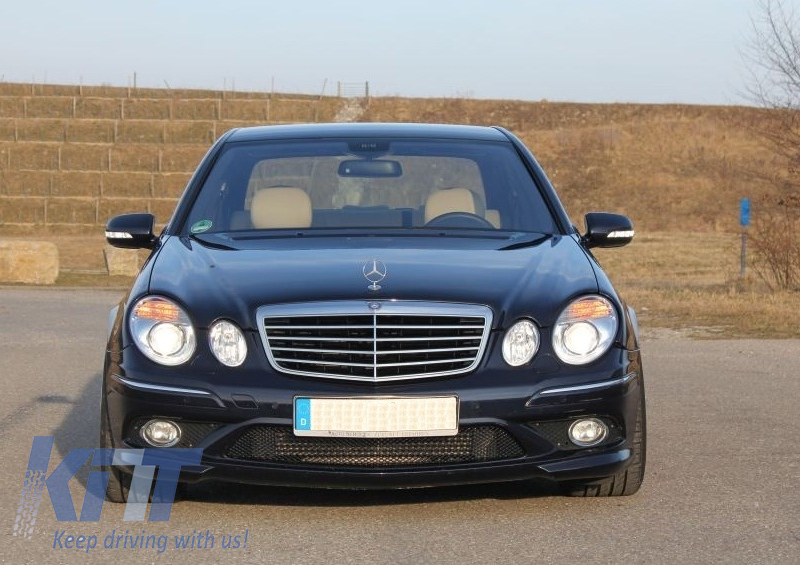 Griglia centrale Mercedes Benz E-Class W211 Facelift (2006-2009) AMG Look