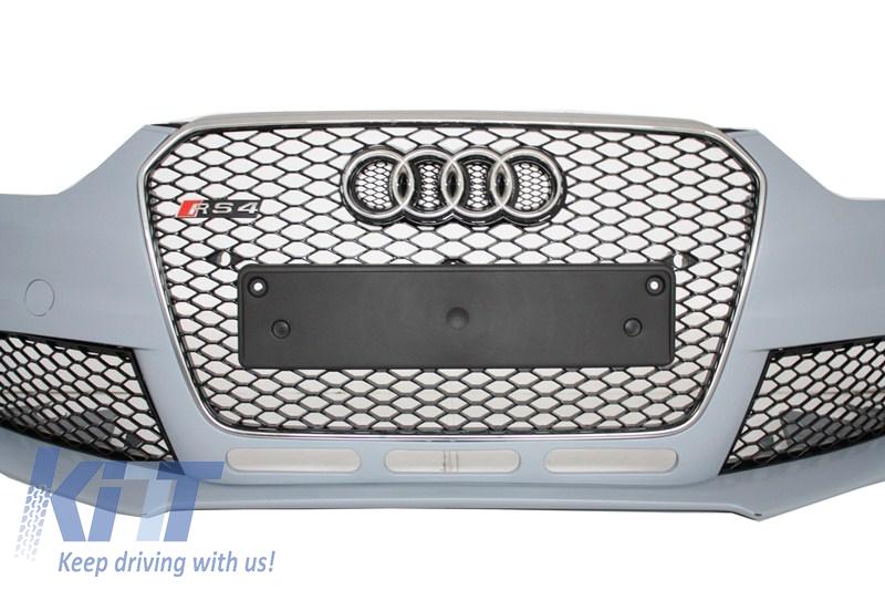 paraurti anteriore griglia centrale audi a4 b8 facelift 2012 up rs4 design ebay. Black Bedroom Furniture Sets. Home Design Ideas