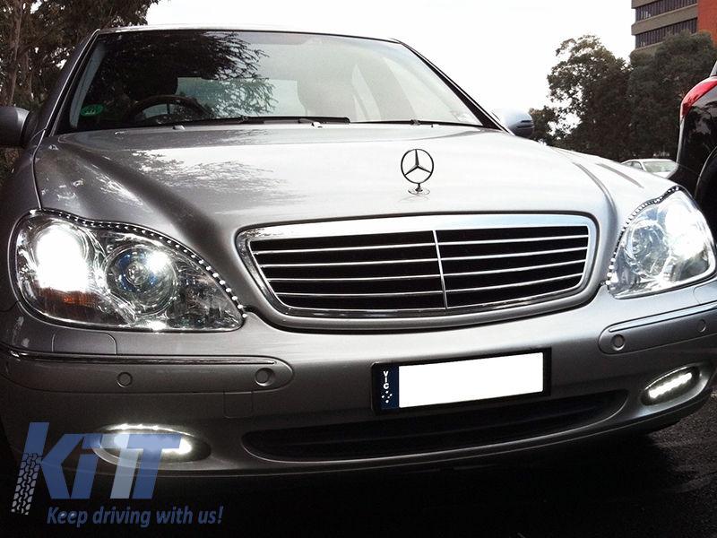 Griglia completa di luci diurne Mercedes Benz W220 S-Class (00-02)