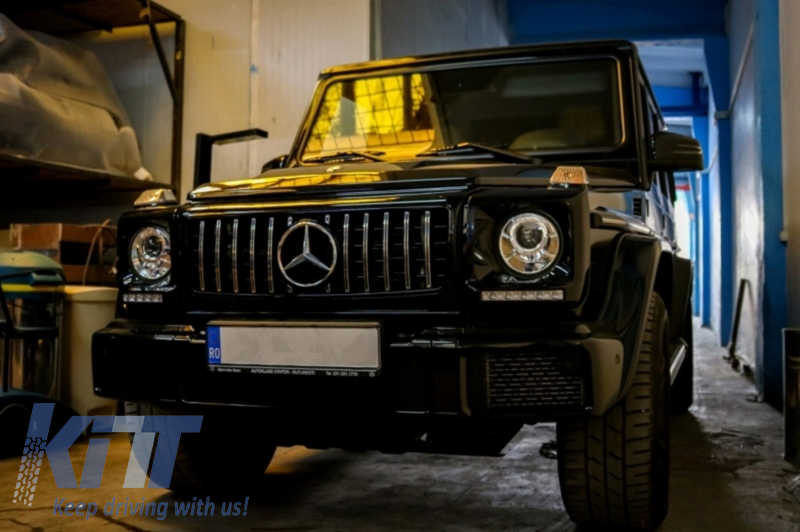 Griglia completa di luci diurne Mercedes-Benz G-class W463 Chrome
