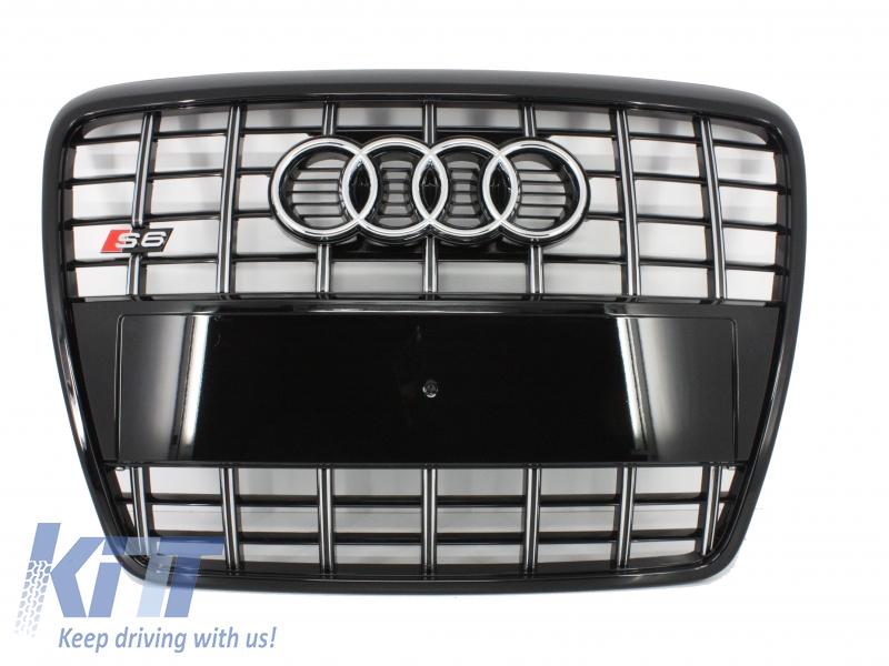 Grila Centrala Audi S6 4F/4F2 All Black Edition (2004-2010)