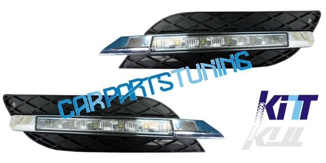 Griglia completa di luci diurne Mercedes W211 (06-09)