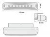 Coppia luci di posizione 8 LED 112x24x38 mm