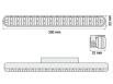 Luci diurne 28 LED LxHxT 200x22x32mm (2 pezzi)