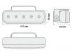 Luci diurne 5 LED LxHxT 147x59x56 mm (2 pezzi)