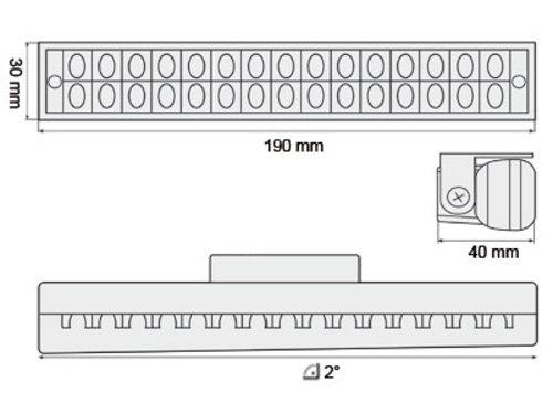 Luci diurne 30 LED LxHxT 190x30x40mm (2 pezzi)