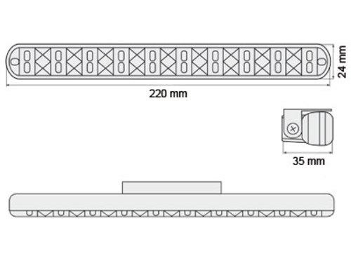 Luci diurne 20 LED LxHxT 220x24x35mm (2 pezzi)