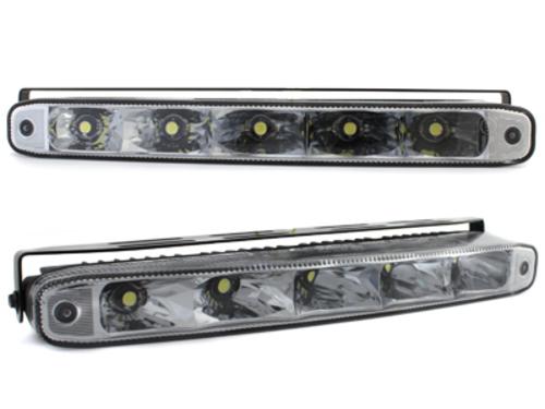 Luci diurne 5 LED LxHxT 220x26x48mm (2 pezzi)
