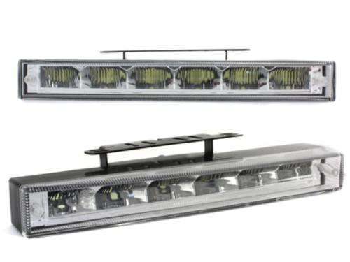 Luci diurne 6 LED 220x29x43(max)30(min)