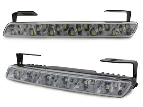 Luci diurne 18 LED LxHxT 200x23x40mm (2 pezzi)