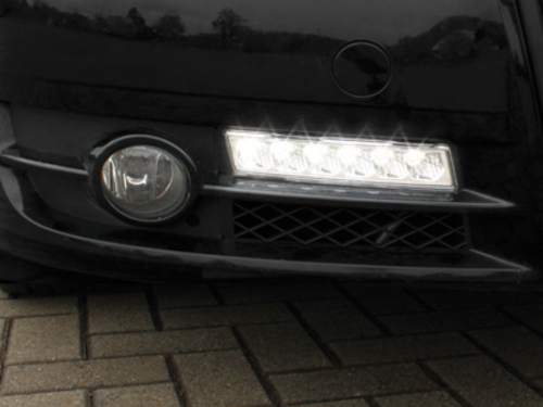 Griglia x fendinebbia con luci diurne Audi A4 8E B7 05-08 chrome