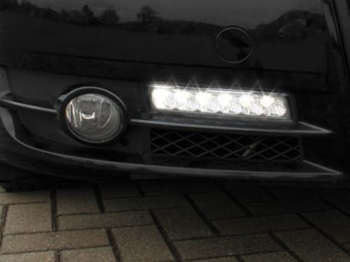 Griglia x fendinebbia con luci diurne Audi A4 8E B7 05-08 fumè