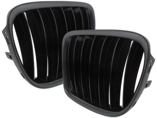 parrilla BMW E84 X1 2009+_negro brillante