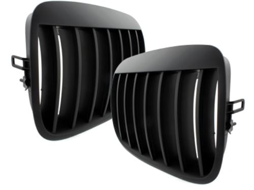 parrilla BMW E70 X5 07-13, E71 08+ _ negro