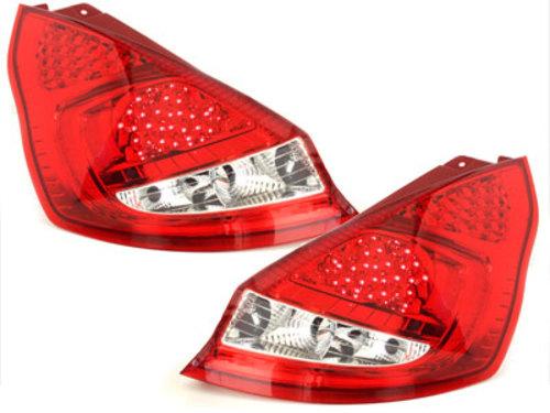 pilotos traseros LED Ford Fiesta MK 7 08-12 rojo/cristal