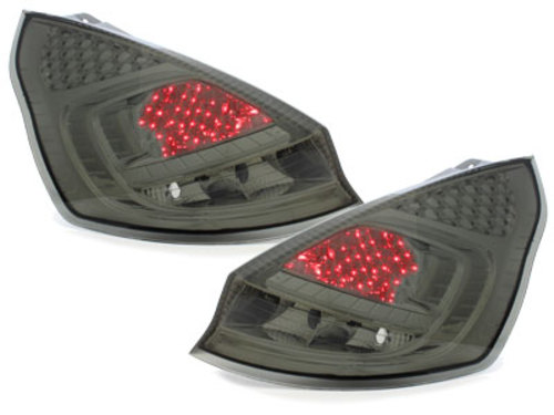 pilotos traseros LED Ford Fiesta MK 7 08-12 ahumado