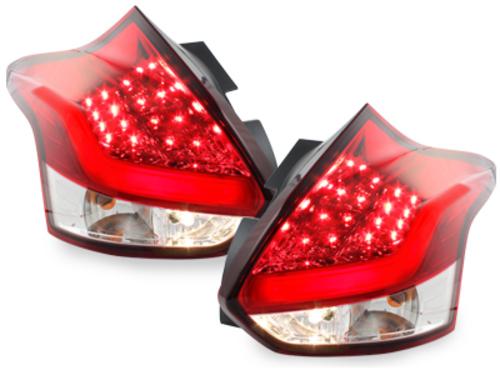 pilotos traseros LED Ford Focus 2011+_rojo/cristal