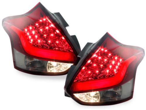 pilotos traseros LED Ford Focus 2011+_rojo/ahumado
