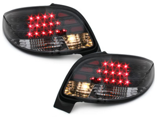 Fanali posteriori LED Peugeot 206cc 98-09 nero