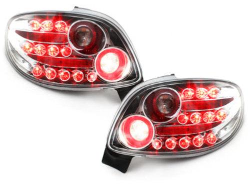 Fanali posteriori LED Peugeot 206cc 98-09 crystal