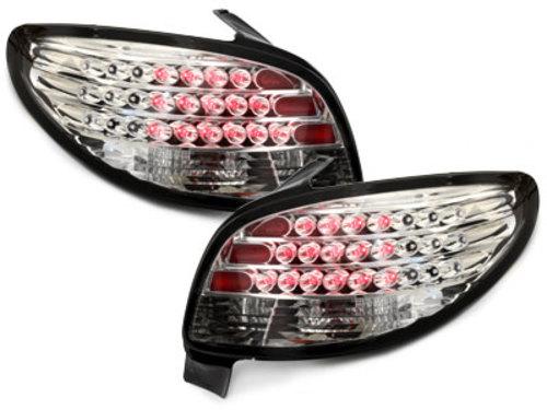 pilotos traseros LED Peugeot 206 98-09_rojo/cristal