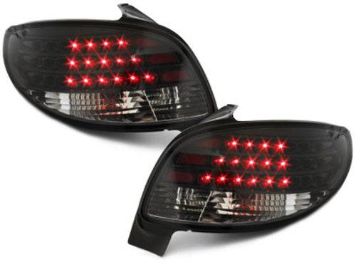 pilotos traseros LED Peugeot 206 98-09_negro