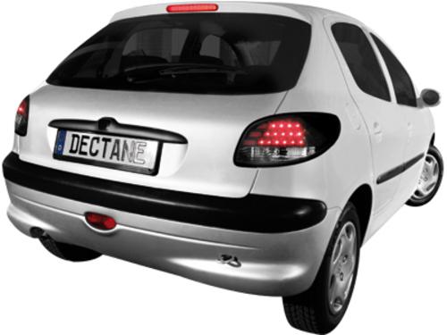Fanali posteriori LED Peugeot 206 98-09 nero