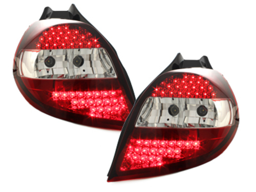 Fanali posteriori LED Renault Clio 05-12.07  red/crystal