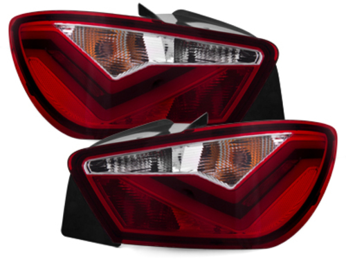 "**Dectane LED pilotos traseros Seat Ibiza 6J_04.08+_\FR\"" Diseno_rojo/cristal"""