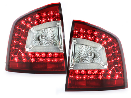 LITEC pilotos traseros LED Skoda Octavia 1Z 04-11_rojo/crist