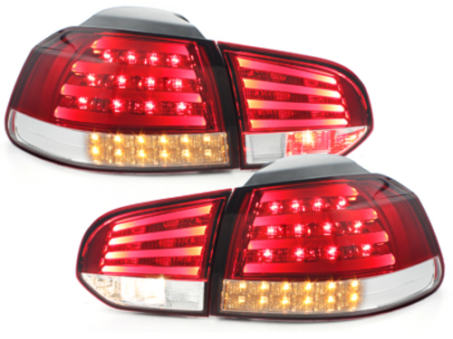 Fanali posteriori LED VW Golf VI LED indicator red/crystal