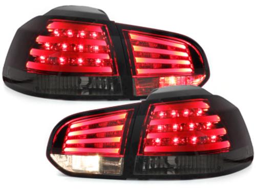 Fanali posteriori LED VW Golf VI rosso/fumè