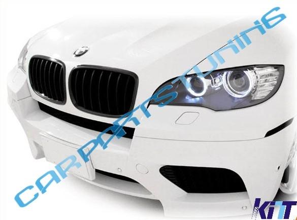 Griglia centrale  BMW X5/X6 E70/E71 2007-2013 nera opaca