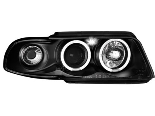 Fari Audi A4 B5 99-01 posizione angel eyes black