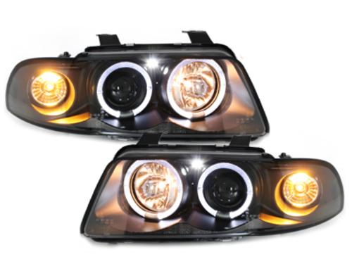 Fari Audi A4 B5 95-98 posizione Angel Eyes black