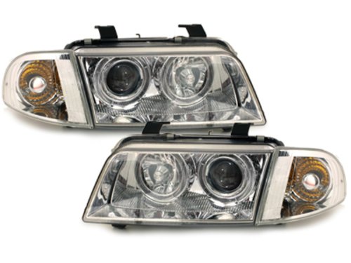 Fari Audi A4 B5 95-98 posizione Angel Eyes chrome