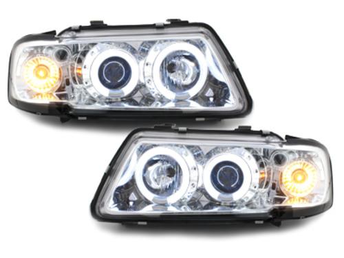 Fari Audi A3 8L 09.96-08.00 2 CCFL Angel Eyes chrome