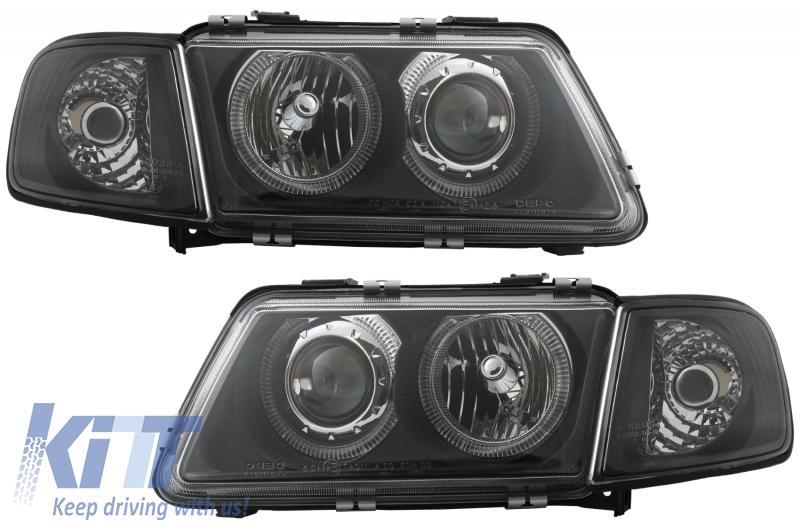 Fari Audi A3 8L 96-00 posizione Angel Eyes black