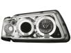 Fari Audi A3 8L 09.96-00 2 cerchi Angel Eyes RHD chrome