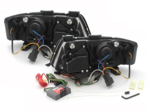 Fari Audi A6 4B 97-01 black-