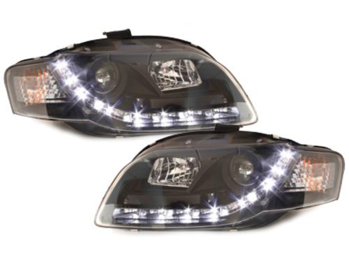 D-LITE headlights AUDI A4 B7 daytime running light_black - SWA08LGXB