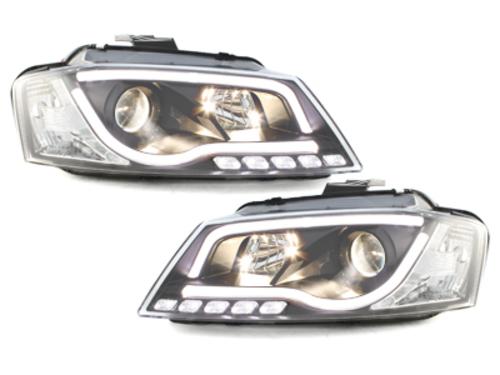 Fari Audi A3 8P luce diurna black-