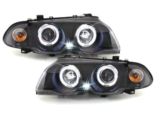 faros BMW E46 Lim. 98-01_2 anillos luz de posición_negro
