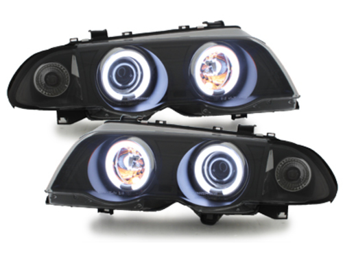 faros BMW E46 Lim. 98-01_2 anillos luz de posición CCFL_negro