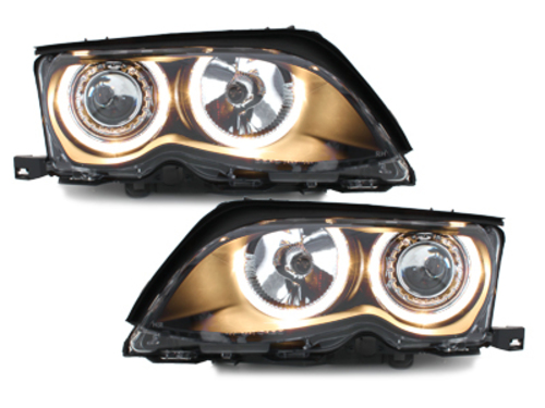 faros BMW E46 Lim. 01-03_2 anillos luz de posición_negro