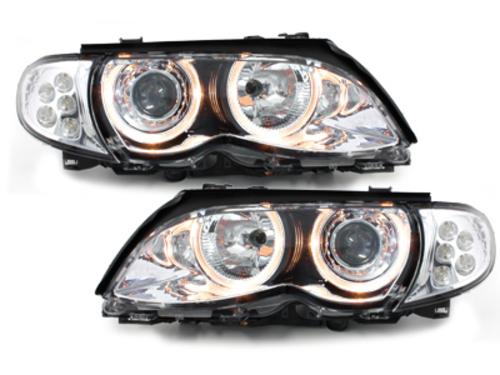 faros BMW E46 Lim. 01-03_2 anillos luz de posición_LED_croma