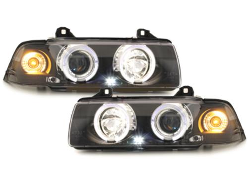 Fari BMW E36 Coupe/Cabrio 92-98 2 SLR black