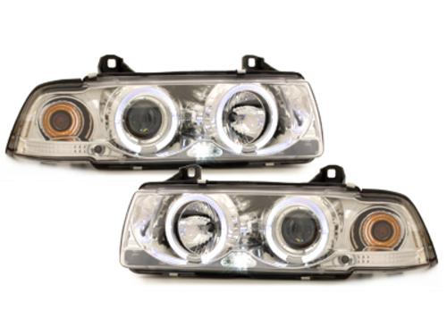 faros BMW E36 Lim. 7.92-3.98_2 anillos luz de posición_croma